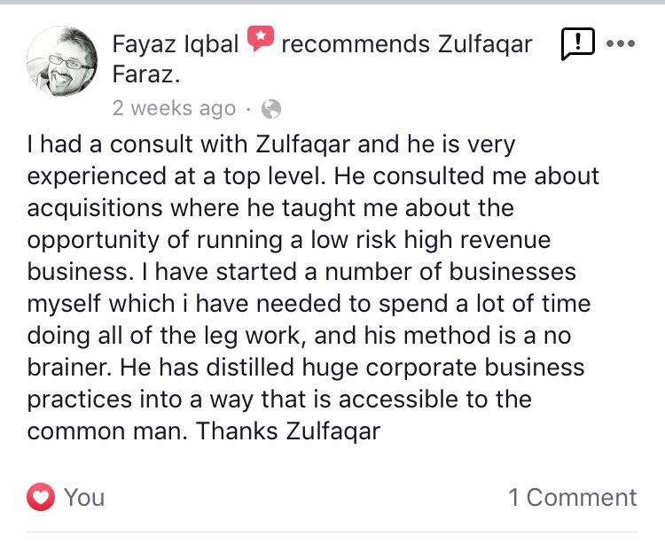 Fayaz Testimonial